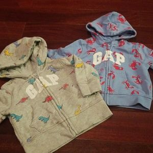 Baby Gap 3-6 month hooded sweatshirts